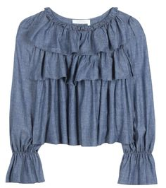 Denim top See By Chloé Cheap Sale Official Discount Low Shipping Fee Comfortable 2018 Newest For Sale 48IeOXKI