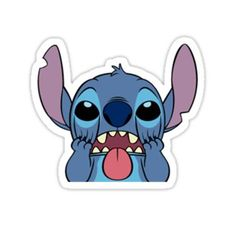 Stickers Discover stitch Sticker by Stickers Cool, Stickers Kawaii, Red Bubble Stickers, Meme Stickers, Snapchat Stickers, Cartoon Stickers, Tumblr Stickers, Phone Stickers, Printable Stickers