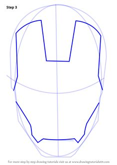 Picture Used To Make Iron Man Pattern Simplified Down To