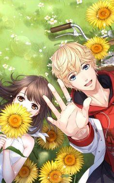 恋与制作人-周棋洛 -love and producer- Zhou Qi Couple Anime Manga, Anime Cupples, Romantic Anime Couples, Art Anime, Anime Couples Drawings, Anime Love Couple, Anime Couples Manga, Anime Chibi, Kawaii Anime