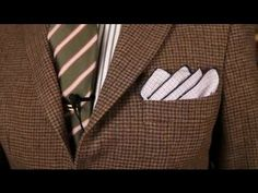 ▶ How to Fold a Handkerchief for a Sport Coat : Men's Fashion Tips - YouTube
