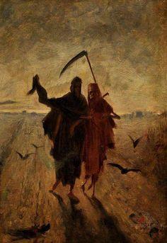 Jakub Schikaneder - Poslední cesta (The Last Journey) circa 1890
