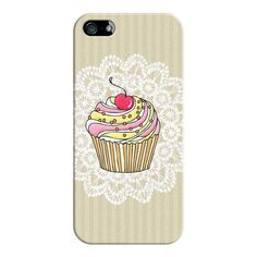 Girly Pink Cute Kawaii Cupcake Lace Stripe Pattern - iPhone 7 Case,... ($35) ❤ liked on Polyvore featuring accessories, tech accessories, phone cases, phone, iphone case, apple iphone cases, pink iphone case, slim iphone case, iphone cases and iphone cover case
