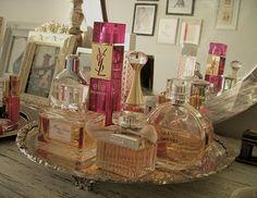 Ideas Makeup Collection Storage Perfume Bottles For 2019 Perfume Storage, Perfume Organization, Perfume Display, Perfume Tray, Perfume Bottles, Chanel Perfume, Makeup Collection Storage, Makeup Storage, Makeup Tray