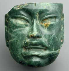 -- Olmec Mask -- Centuries BCE -- Mexico -- Jade -- Heilbrunn Timeline of Art History at The Metropolitan Museum of Art Ancient Aliens, Ancient History, Art History, European History, Sculpture Art, Sculptures, Stone Sculpture, Objets Antiques, Art Antique