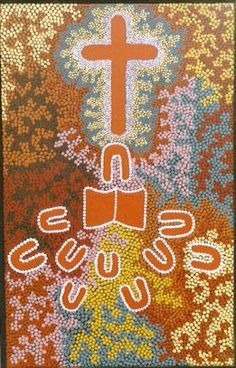 Aboriginal Christian art from Alice Springs in central Australia.