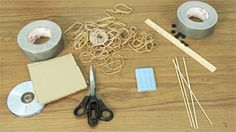 Fun project for Juniors doing the Get Moving! program -- Make a fast, two-wheeled car powered by a rubber band.     Try building more fun projects and share them on the Design Squad Nation website. http://pbskids.org/designsquad/build/