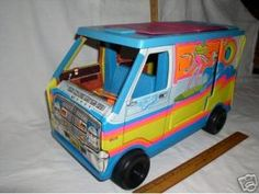 This was the exact Barbie camper I loved to play with! But I had 3 brothers so on occasion when I would come back it would be up  on blocks they needed the wheels for one of their toy cars !