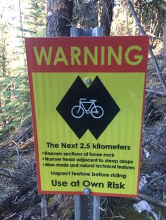 Difficulty warning, double black MTB trail Trail Signs, Mtb Trails, Black, Black People