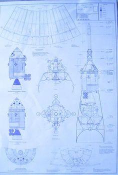 Apollo Lunar Module / Command Modeule / Service Module Blueprint