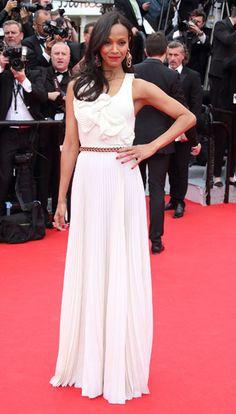 Zoe Saldana. Victoria Beckham 2014