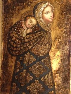 Madonna and Child Peruvian Style - what a sweet depiction!