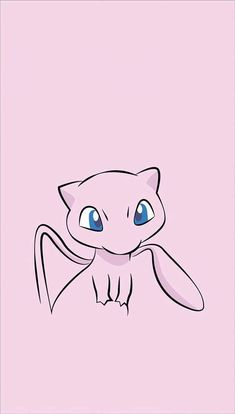◾Mew ( ◾Type - Psychic ━━━━━━━━━━━━━━━━ Mew is said to possess the genetic composition of all Pokémon. It is capable of making itself invisible at will, so it entirely avoids notice even if it approaches people. Mew Pokemon, Mew E Mewtwo, Pokemon Pink, Pokemon Blastoise, Mudkip, Charizard, Iphone Wallpaper Pokemon, Pokemon Backgrounds, Pokemon Birthday
