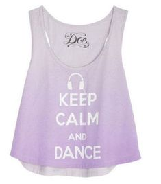 Keep calm and dance shirt