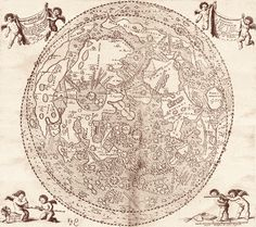 One of Hevelius' labelled maps of the moon.