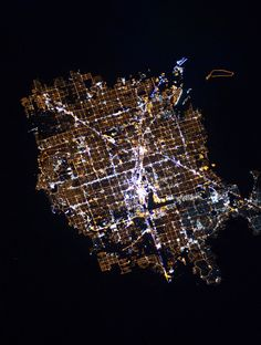 2/3/2016 Las Vegas at night Las Vegas, Nevada, USA 36°10′30″N 115°08′11″W   The glowing lights of Las Vegas, Nevada are captured here from the International Space Station. Since the city is entirely surrounded by desert, its brightly lit grid of streets starkly contrasts the dark, undeveloped area on its outskirts. You'll also notice the Las Vegas Strip - the city's central avenue that is seen at the middle of this Overview. This particular area is one of the brightest spots on Earth due…