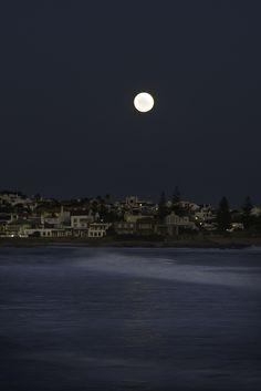 "Moonrise Reflection over ""la Barra de Maldonado"" , Uruguay(Byjikatu)"