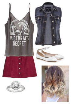"""""""Untitled #337"""" by rikey-byrnes on Polyvore featuring H&M, Victoria's Secret, maurices and Diamonore"""