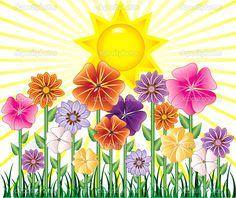 Yükle - Bahar günü — Stok İllüstrasyon #3003113