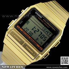 c02ad5560ab Casio Vintage Style Data Bank Golden Digital Watch DB-380G-1
