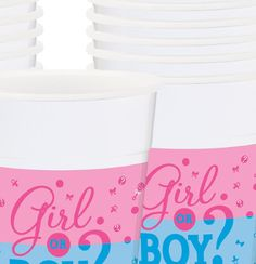 Gender Reveal Baby Shower; Gender Reveal Tableware; Gender Reveal Plastic Cups 25 count; Gender Reveal Decorations; Unisex Baby shower deco by SimplyCreatedForYou6 on Etsy