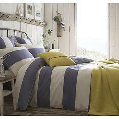 Buy Seasalt Cornish Stripe Lapis Bedding, Blue Online at johnlewis.com
