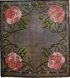 wasbella102:  Ann Macbeth embroidered cushion cover 1906
