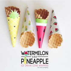 Watermelon and Pineapple Wrappers - Free Printables