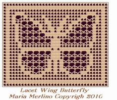 Using a variation of Filet Crochet called the Lacet Stitch, crochet a pretty butterfly to add beauty to your tabletop. Or you could make...