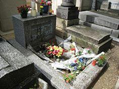 Doors frontman Jim Morrison grave at Pere Lachaise Cemetery Paris