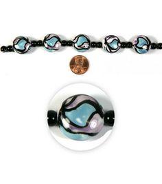 Blue Moon Strung Painted Ceramic Beads,Flat Round,Lavender/Blue/Black: Strung: beads: jewelry & beading: crafts: Shop | Joann.com