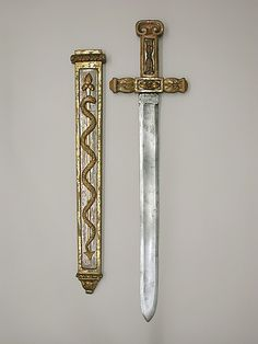 Theatrical Sword with Scabbard Date: ca. 1780 Culture: French, Paris Medium: steel, wood, gesso, gold, silver