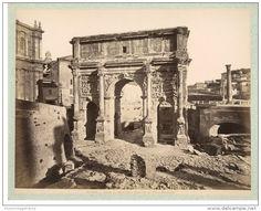 Italie, Roma, Arco di Settimio Severo al Foro Romano  vintage albumen print.   Tirage albuminé 1880