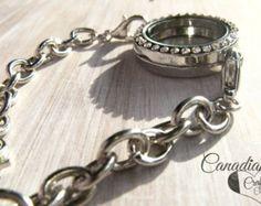 SPRING SALE *** SILVER Bracelet - 25mm Magnetic Memory Locket Floating Locket Bracelet - Edit Listing - Etsy