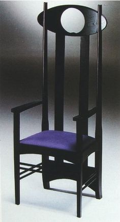 This also comes in orange leather....on the wish list of things I'll never have.  Charles Rennie Mackintosh Chair