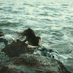Windswept sea maiden