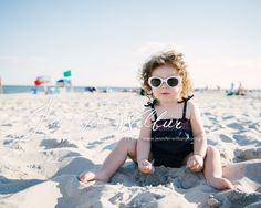 Little girl at the beach. Vintage beach photo session.