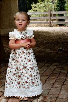 Girls dress vintage shabby chic french Royal by OhVeronicaGirl