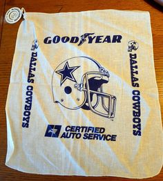 #1988 Dallas Cowboys Original NFL Football Goodyear Oil Rag  #Goodyear #Dallas #Texas