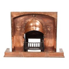 Gorgeous Arts-and-Crafts Copper Fireplace!