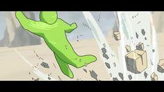 """http://www.spi0n.com/heat-vs-repulsion/  Optical-Core est le surnom d'un jeune étudiant chinois de 19 ans qui a réalisé """"Heat vs Repulsion"""" , un brillant court métrage d'animation qu'il a entièrement réalisé de A à Z. Le court-métrage met en scène deux bonhommes, l'un de couleur vert l'autre violet, qui se combattent sur des montagnes au bord d'un océan. Optical-Core a notamment utilisé les logiciels Photoshop et Adobe After Effect pour concevoir les graphismes et l'animation."""
