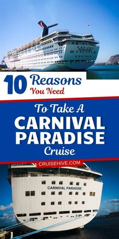Here's why you should choose a cruise vacation on the Carnival Paradise cruise ship which is operated by Carnival Cruise Line. With things to do and travel experiences. #cruisehive #cruise #cruises #cruisetravel #cruiseship #carnivalcruise #cruisetips