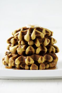 pumpkin ginger waffles