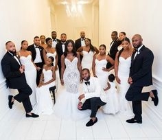 Shaq's gorgeous bridal party in our White Arianna Dress