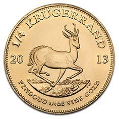 South African Krügerrand / Krugerrand 2013 1/4oz Fyngoud Fine Gold