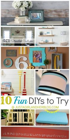 10 Fun DIYs to Try at Just a Girl and Her Blog