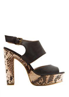 Mango snakeskin print platform sandal, $119 – Mango.