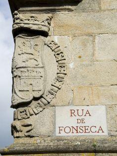 Rue De Fonseca, Santiago De Compostela, Galicia, Spain
