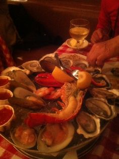 oysters and lobster.