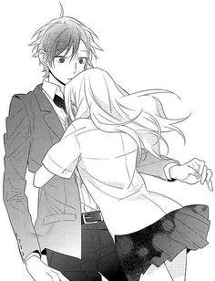 manga, horimiya, and anime image Anime Couples Hugging, Anime Couples Drawings, Anime Couples Manga, Cute Anime Couples, Manga Anime, Anime Amor, Photo Manga, Japon Illustration, Manga Cute